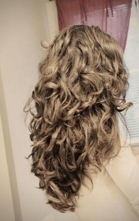 sock-bun-curls