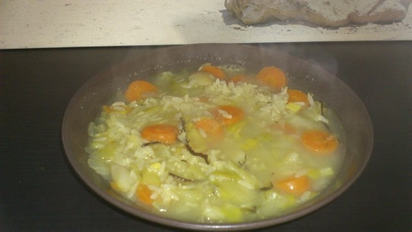 Riz au pot au feu végétarien