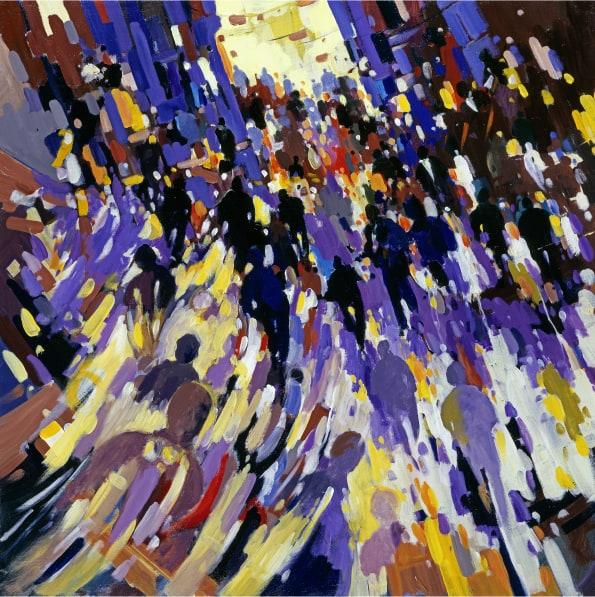 La foule, peinture de Olivier Suire Verley